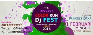 Run color medan dan dj festival 2015 dengan princess joanna