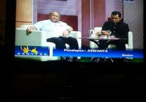 sunarto mengisi acara di TVRI Sumut