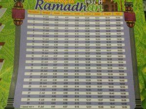 jadwal imsakiyah ramadhan 2016