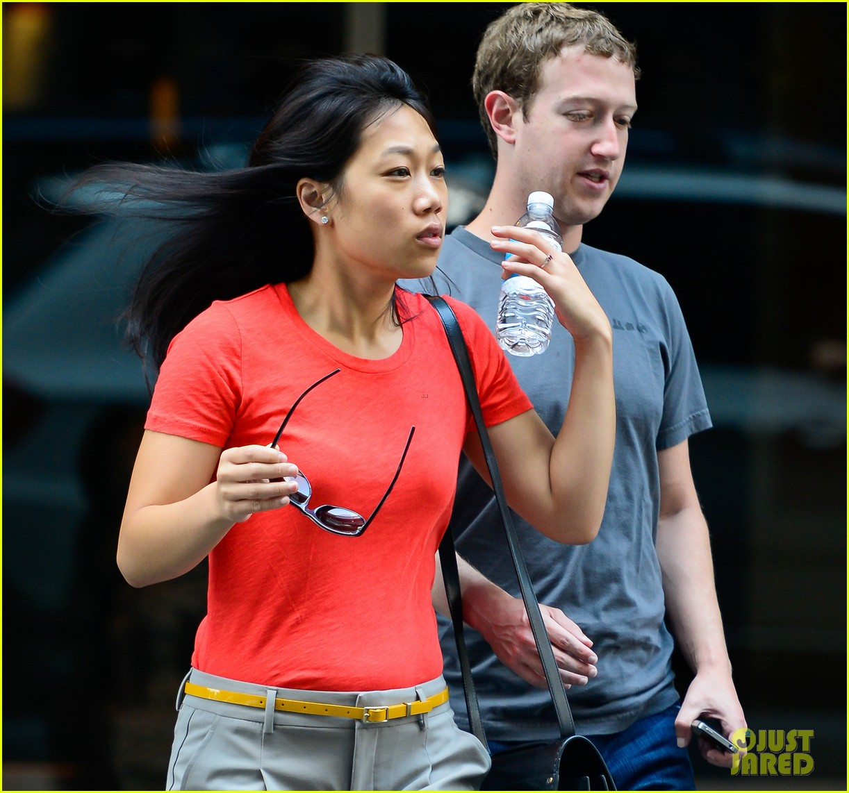 Mark Zuckerberg and Priscilla Chan sighting in the streets of Manhattan